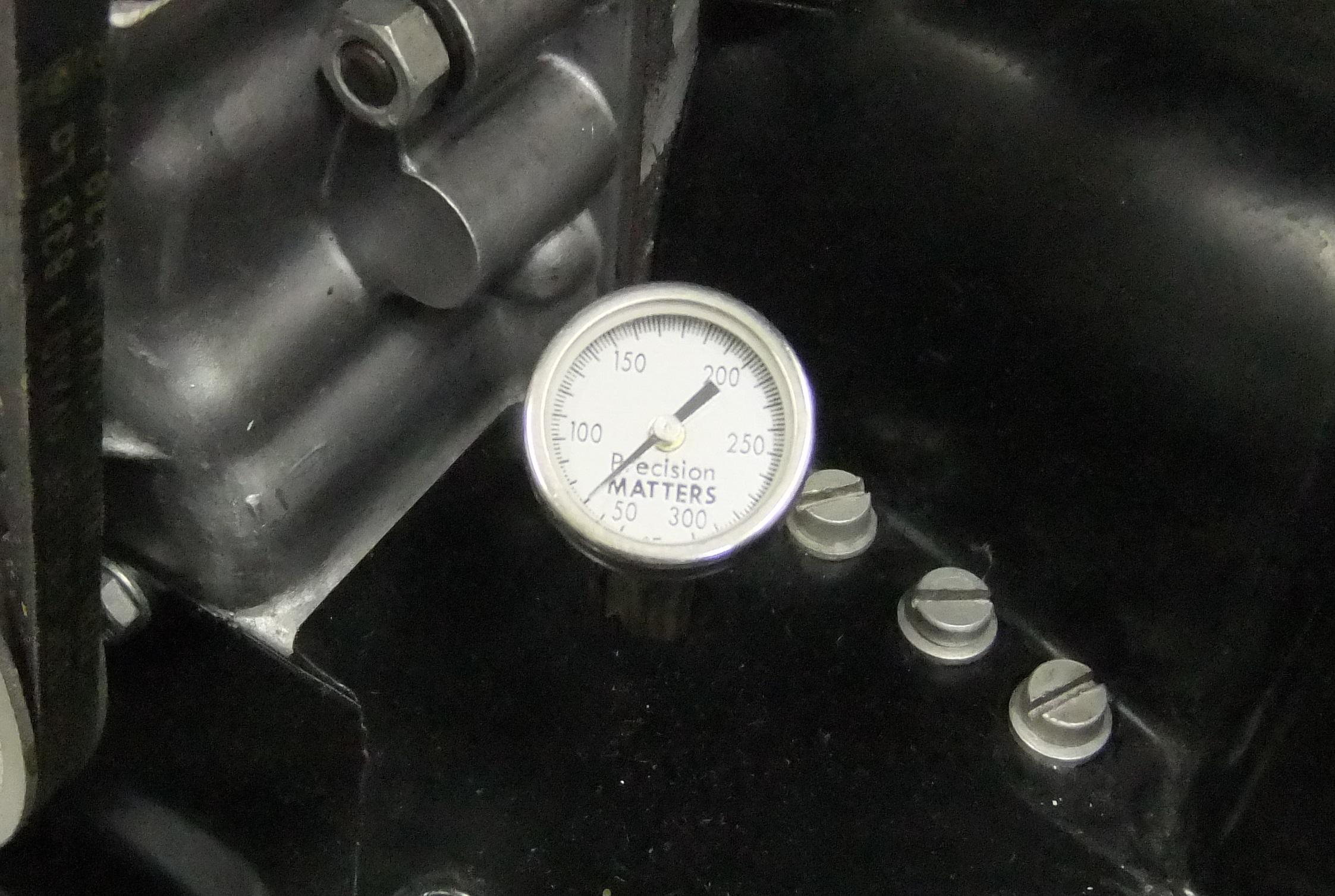 356 Dipstick Thermometer: Installed view
