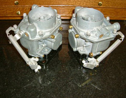 A set or exceptionally clean 1958 Zeniths, rebuilt and prepped by Precision Matters for a big-bore 'S' engine.