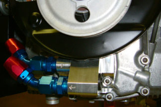 Remote Oil Adapter, with Pressure-Relief